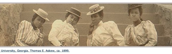 Twenty-five years after the end of slavery, these sisters were in college in Atlanta. (Library of Congress photo).