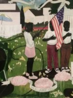 Painting by artist Kerry James Marshall, now at the NY Metropolitan Museum of Art